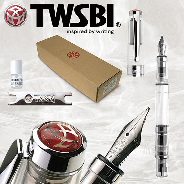臺灣 TWSBI 三文堂 Diamond 鑽石 580/透明 活塞鋼筆 1