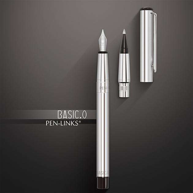 PEN-LINKS BASIC.O 貝斯可鋼筆+卡式鋼珠筆(組) 1